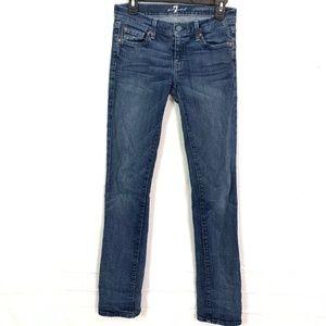 7 FOR ALL MANKIND Straight Leg Dark Jeans 26 x 33